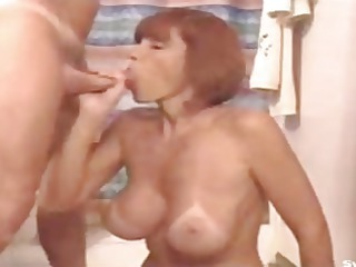 awesome milf with lovely tits sucking.