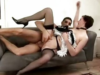 cougar maid acquires spanked by man