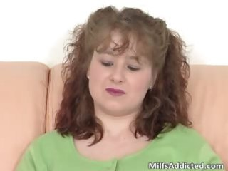 cute brunette milf with huge chest plays part6
