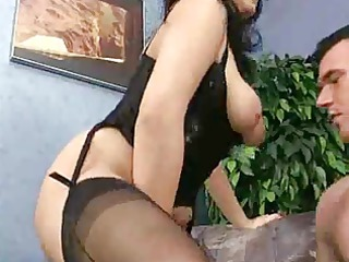 busty cougar goes for it