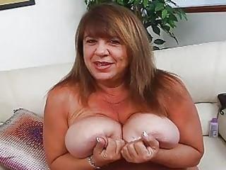 cougar momma with super huge bosom sticks sex toy