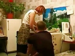 russian readhead grownup mother and son