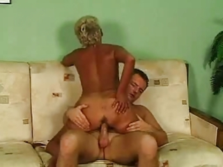 blond old inside glasses and pantyhose gangbangs