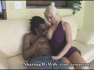 horny mommy slurps down black sperm