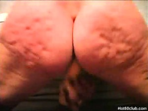 blond cougar old playing her banged cave
