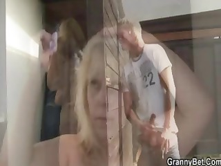 public sex with flabby mature