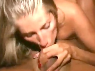 awesome lady pov blow and white cream tasting
