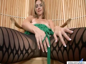 milfy pantyhose expose and toying