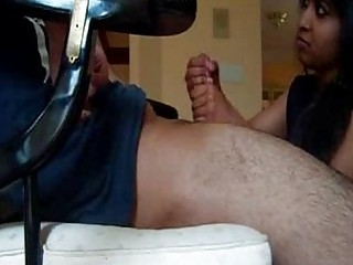 indian maiden gives awesome handjob
