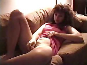 vintage woman masturbates hirsute vagina with