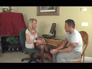 awesome mom into shoes and nylons fucks stepson