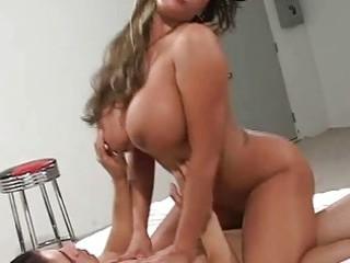 huge breast lady twin teamed