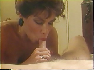 grown-up blonde licks on a big white cock into
