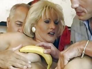 cougar german blonde obtains dual pierced