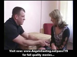 inexperienced hot blonde bride adorable talking