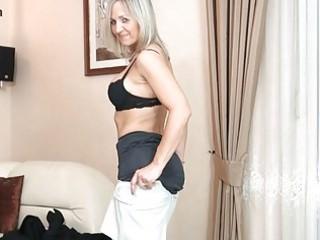 bootylicious blond lady inside dark pantyhose