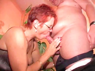 ginger old into pantyhose copulates
