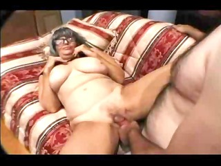 elderly taking a penis into her oral and getting