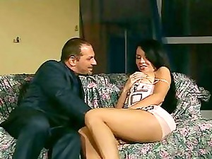 awesome butt mature babe brunette in high shoes