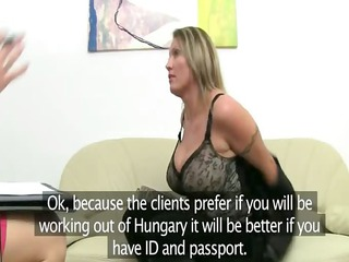 mature girl penetrate on leather furniture
