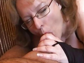 naughty young woman handjob and dick sucking with