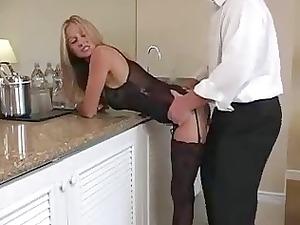 lingerie blonde milf.... does she make him cum?
