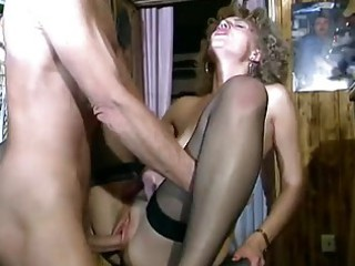 curly haired german mature babe ingests